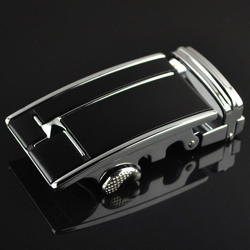 3.5cm Width Automatic Belt Buckle Luxury Brand Western Cowboy Dress Belt Buckle Silver Gold CE741