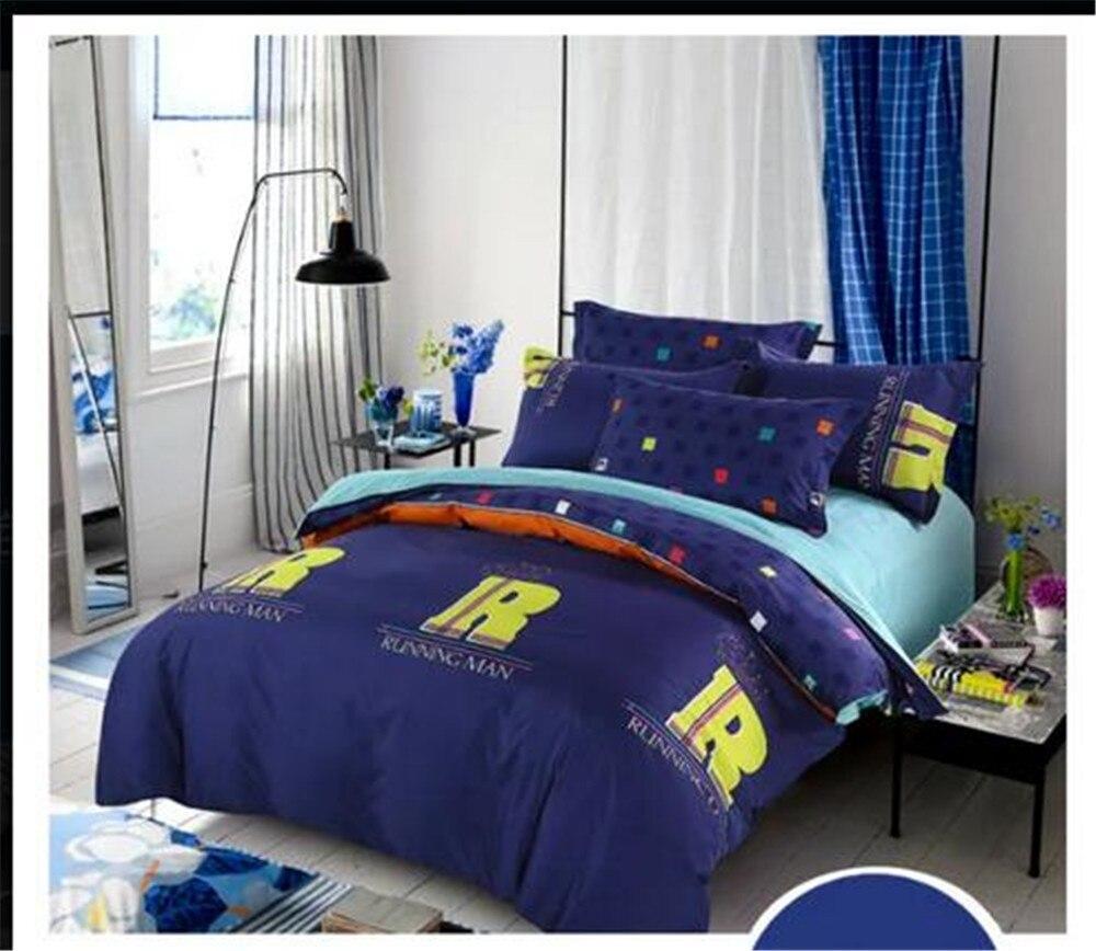 Bleu couvre lit promotion achetez des bleu couvre lit - Ensemble draps lit double ...
