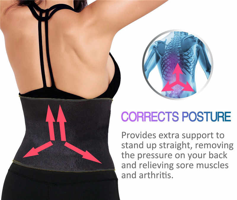 8d7b00c0e13e2 ... SEXYWG Sport Yoga Shirt Women Slimming Hot Waist Trainer Body Shaper  Modeling Belt Underbust Strap Gym ...