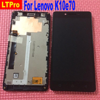 Black NEW Full LCD Display Touch Screen Digitizer Assembly Frame Bezel For Lenovo K10e70 Phone Parts