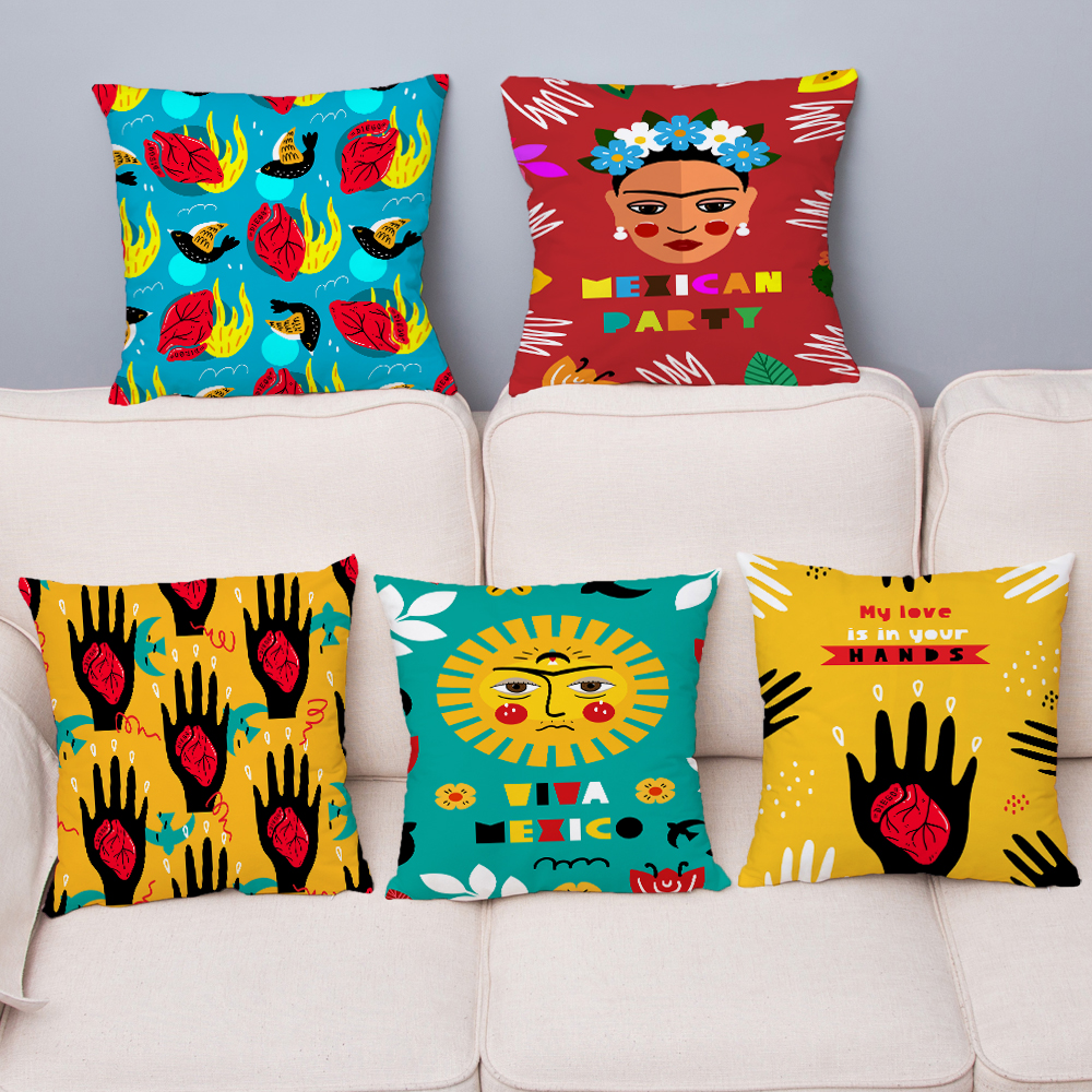 Mexico National Style Geometric Pillow Cover Super Soft Short Plush Cushion Covers Throw Pillows Cases Home Decor Pillowcase