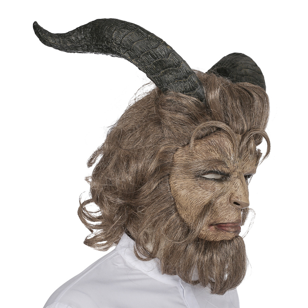 The Beast Mask Halloween Party Horror Hot Movie Beauty and the Beast Adam Prince Mask Cosplay