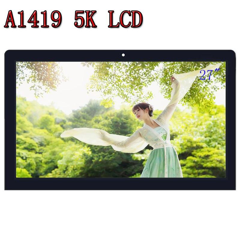 Orignal nouveau Retina LCD écran de visualisation avec Verre LM270QQ1 SD A2 Pour iMac 27 A1419 5 K 2014 2015 année MF885 MF886 tout-en-un