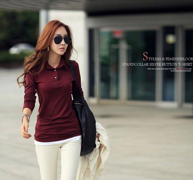83a89495b Estilo coreano mulheres manga comprida Casual T femme camisa senhora  camisas femininas 2018 camicia donna camisa