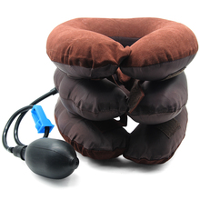 Massage Inflatable Neck Pillow U Shaped Travel Car Head Rest Air Cushion for