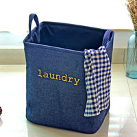 Good Quality Jeans LAUNDRY Basket Storage Basket Thickened Bottom Lining Dirty Clothes Barrel Storage Basket