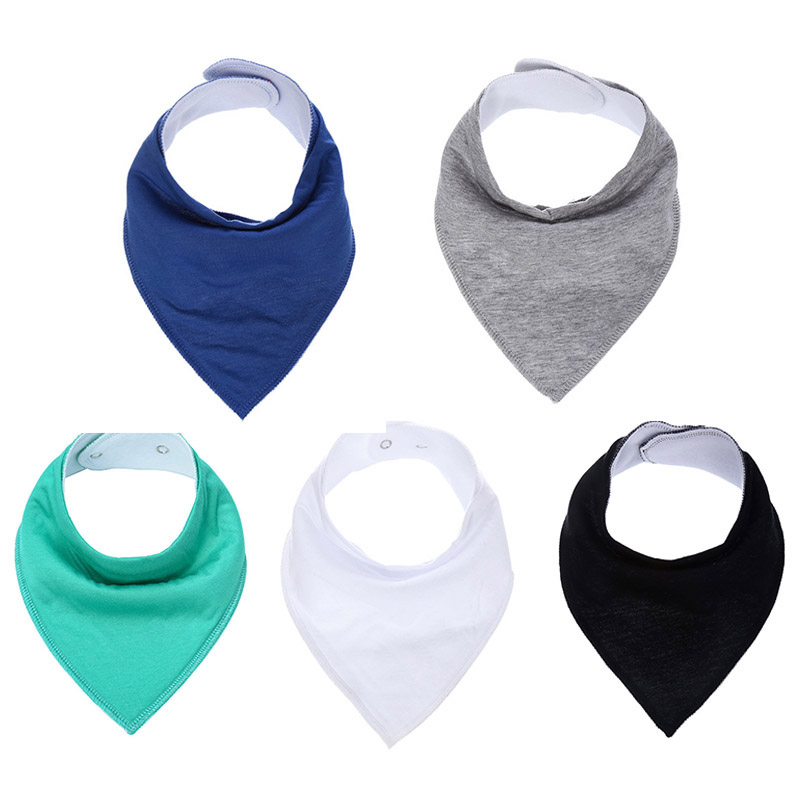 Solid Color Soft Cotton Baby Bibs & Burp For Infant Newborn Baby Babador Bandana Cotton Triangle Scarf Boys Cloth Feeding Bibs