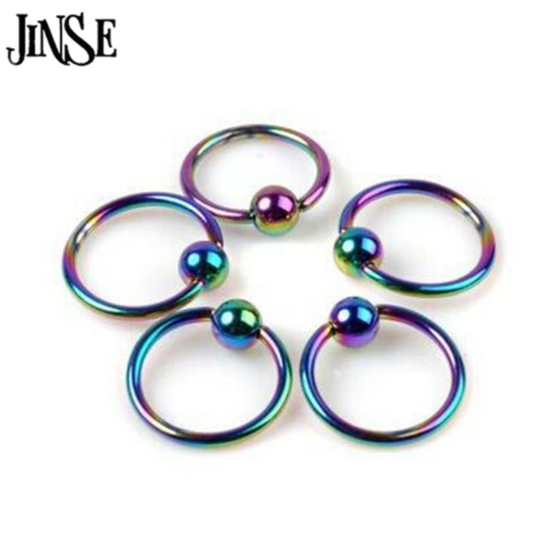 BDJ039 Fashion Body Jewelry Lip Ear Nose Eyebrow Piercing Hoop Rings Cartilage Studs Surgical Stainless Steel