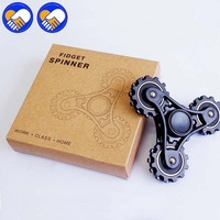 A TOY A DREAM New Four Teeth Linkage Wheels Fidget Toy Plastic EDC Hand Spinner For