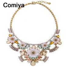 font b Boho b font ethnic acrylic chokers flowers maxi necklaces font b collare b
