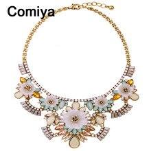 Boho ethnic acrylic chokers flowers maxi necklaces collare India jewelry necklace bohemian kolye perfume women bijoux