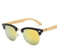 M37 2016 New brand designer bamboo sunglasses wood for women men vintage glasses retro mens font