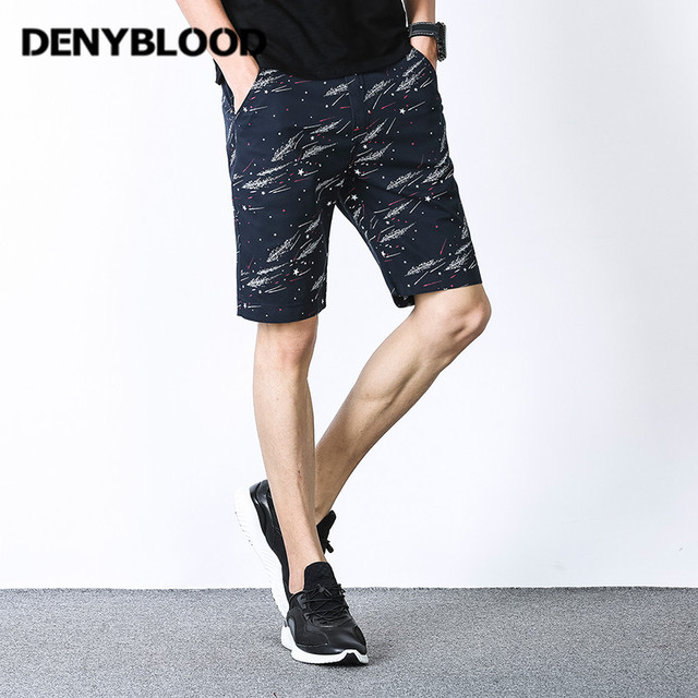 3773239d8379 Denyblood Jeans Clothing Mens Shorts 2017 Summer Fashion Casual Print  Cotton Regular Short Pants Bermuda Plus Size Free Ship 660