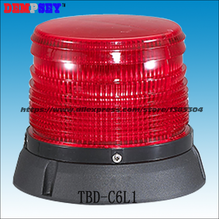 TBD-C6L3 LED warning strobe beacon light/traffic emergency signal beacon for police/Red security alarm rotator lamp for sale dempsey police strobe light led strobe lights emergency warning light for truck led strobe beacon with magnet red blue tbd c3l5