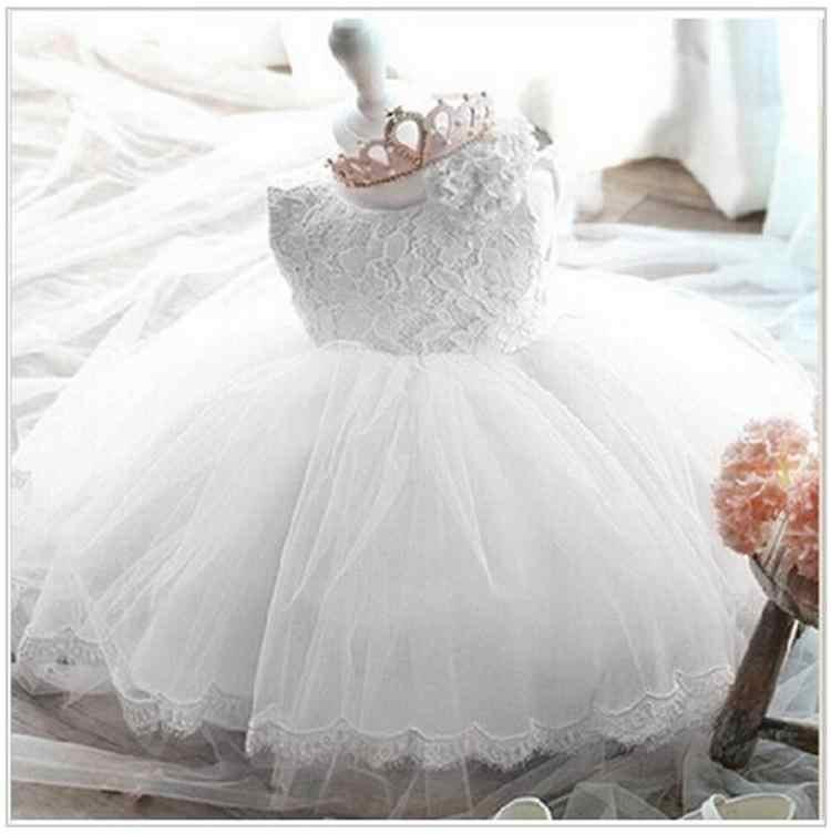 Elegante Vestido Da Menina Meninas 2018 Moda Verão Rosa Lace Big Bow Festa Flor de Tule Vestidos de Casamento Da Princesa vestido Da Menina Do Bebê