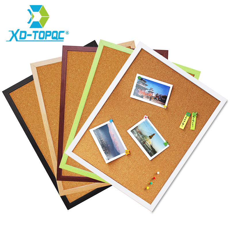 Free Shipping Xindi 5 Colors Mdf Frame Bulletin Cork Board 30*40cm Memo Photos Pin Board Cork Message Boards For Notes