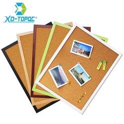 Бесплатная доставка 30*40 см доска объявлений пробковая 5 видов цветов MDF рамка для выбранной памятки булавка для фотографий доска пробковая д...