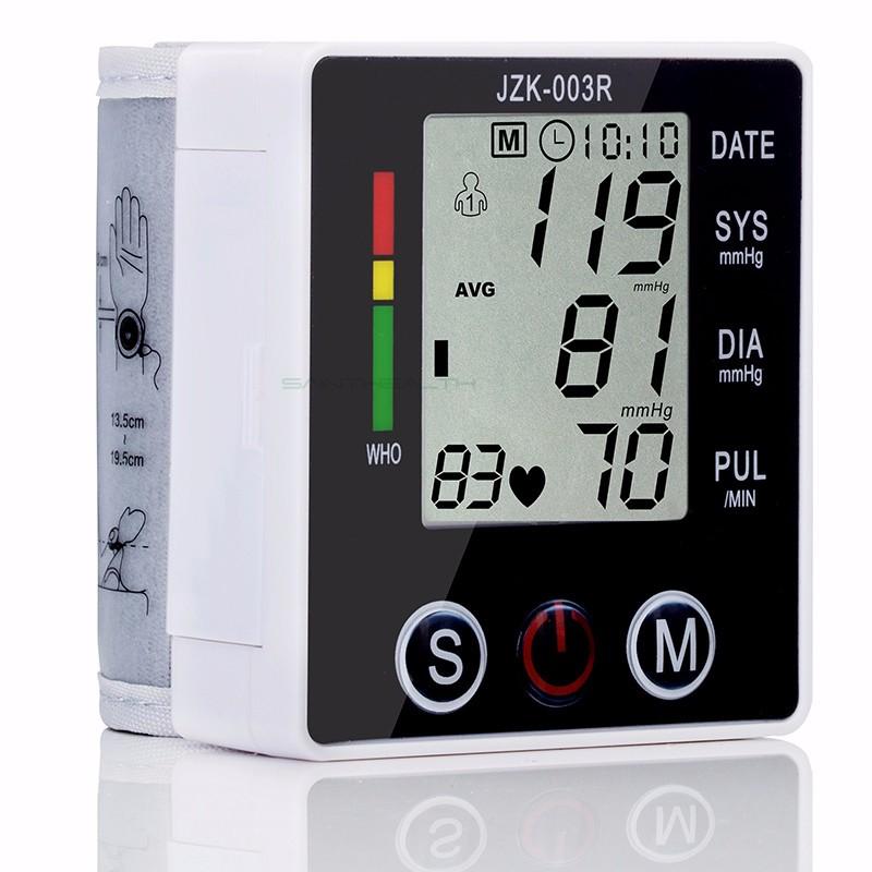 Portable Digital Blood Pressure Monitor Wrist Sphygmomanometer Blood Pressure Tonometer Automatic Helth Care Pressure Device (6)