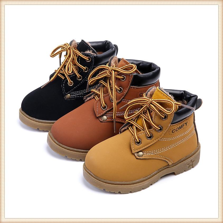革の靴の子供で 2019 新しいファッション黄色の革 PU ショートセクションの男性と女性の子供マーティンブーツ|ブーツ|ママ & キッズ -