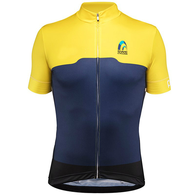 bfb17ef1f 2018 Swedish National team short sleeve cycling jerseys Men s cycling  clothing MTB Bicycle clothes Bike Wear maillot cyclisme