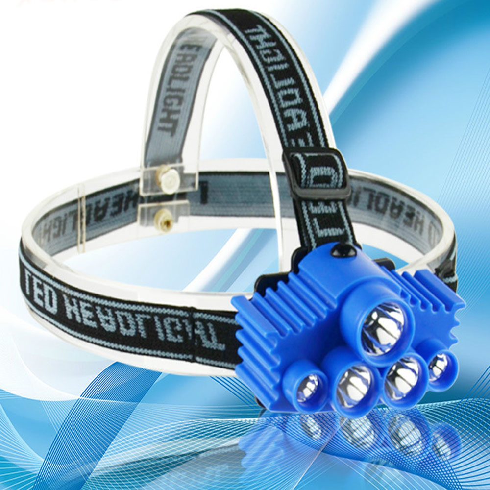 Portable 3W CREE LED 5 Headlamp AAA Head Torch Light Flashlight 1-Mode