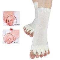 1Pair Massage Five Toe Socks Fingers Separator Bone Thumb Corrector Pain Relief Socks For Woman Sock For Pedicure Toe Separators Skin Care