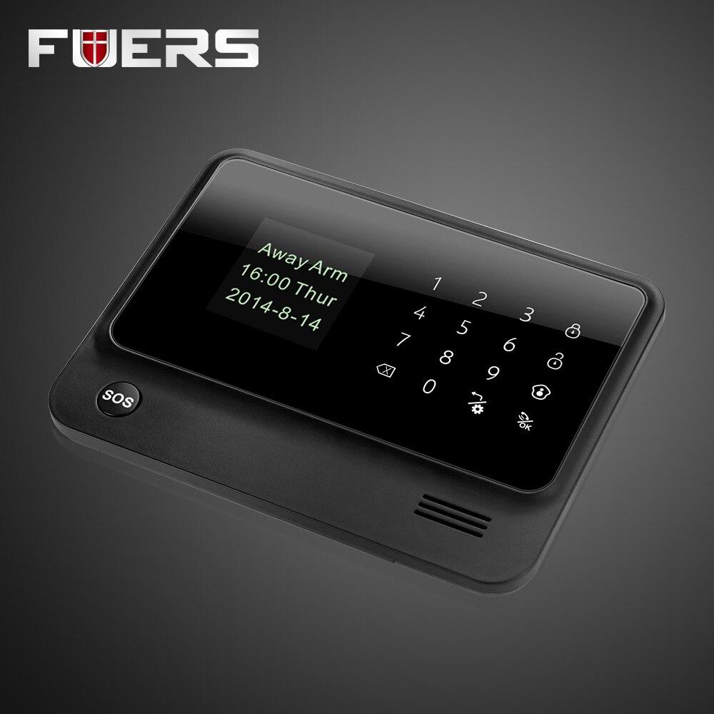 G90B 2.4G WiFi 3G SIM Card GSM GPRS SMS Wireless Home House Security Intruder Alarm System Motion Sensor Wireless Smoke Detector 1