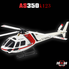 XK K123 6CH Brushless AS350 Scale 3D6G System RC Helicopter RTF