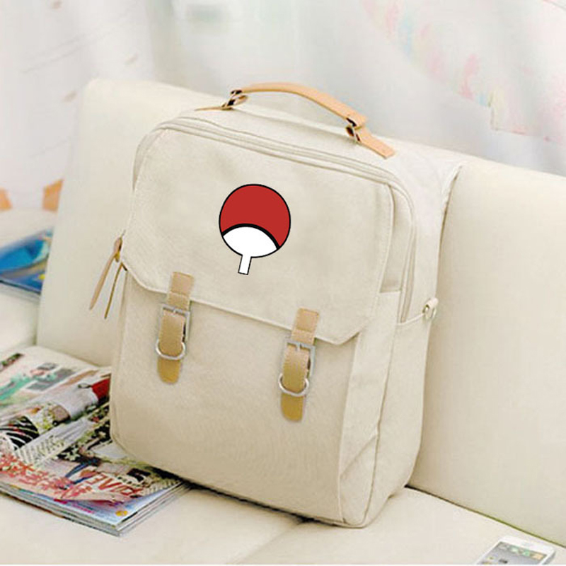 Canvas Preppy Style Backpack Anime Naruto Itachi Uchiha Fan Mochila Backpacks Student School Teenagers Girls