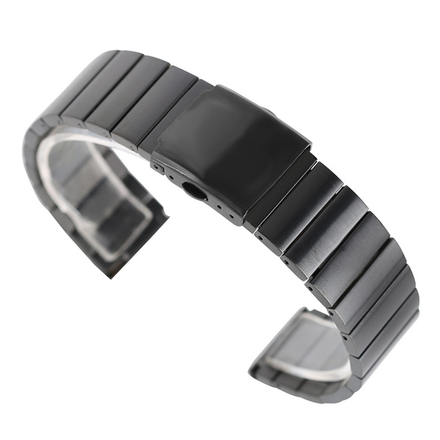High Quality Luxury Silver/Black/Gold/Rose Gold Solid Bracelet Stainless Steel Band Strap Adjustable Replacement Wristwatch Tool | Watchbands