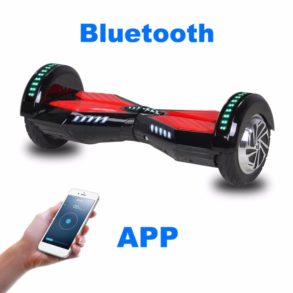 2 Wheels 8 Inches LED light Bluetooth App Self Balance Electric Scooter Standing Smart Skateboard Hoverboard with Scooter Bag план покорения мира в тубусе 815416