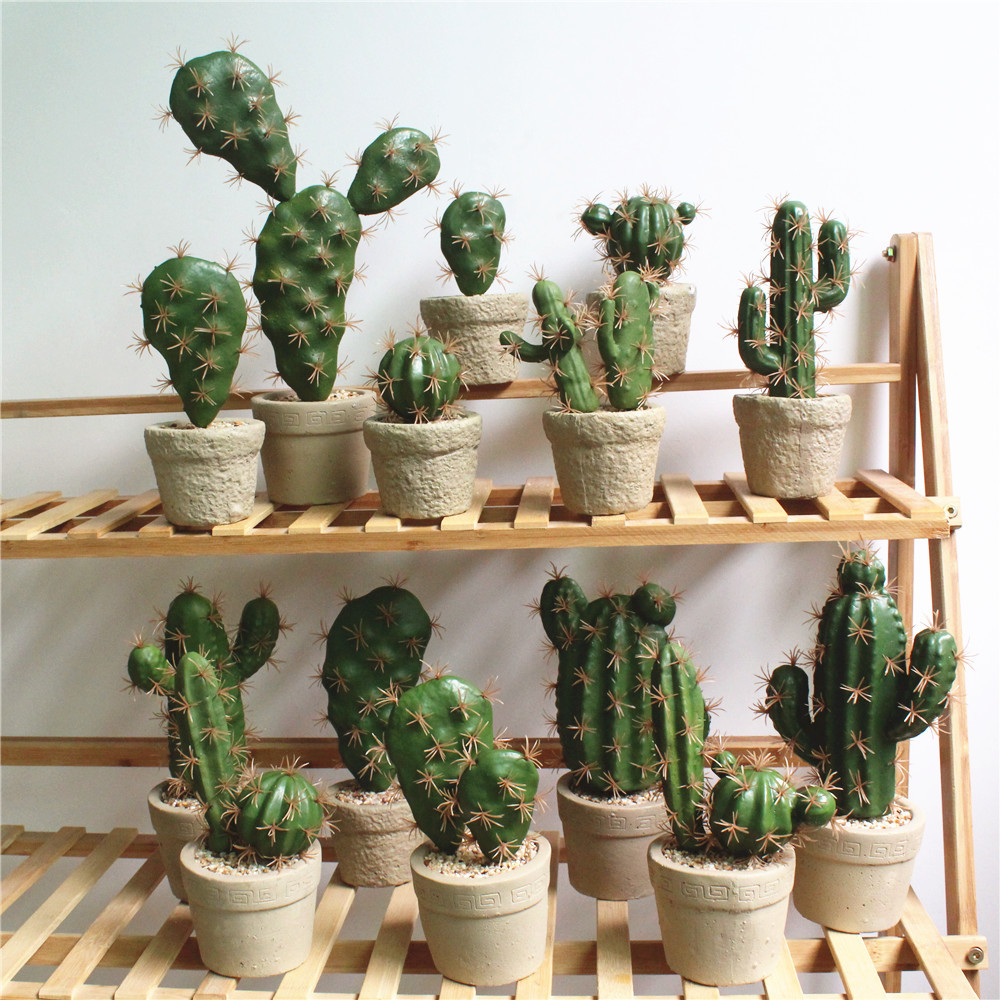 Foreign Trade Excellent Products Artificial Succulent Plant Cactus Green Plant Desktop Creative DIY Fake Plant Table Holiday 29-3