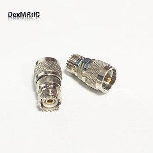 1 шт. UHF Female SO239 переключатель UHF Male PL259 коннектор прямая муфта никелированная по оптовой цене быстрая доставка