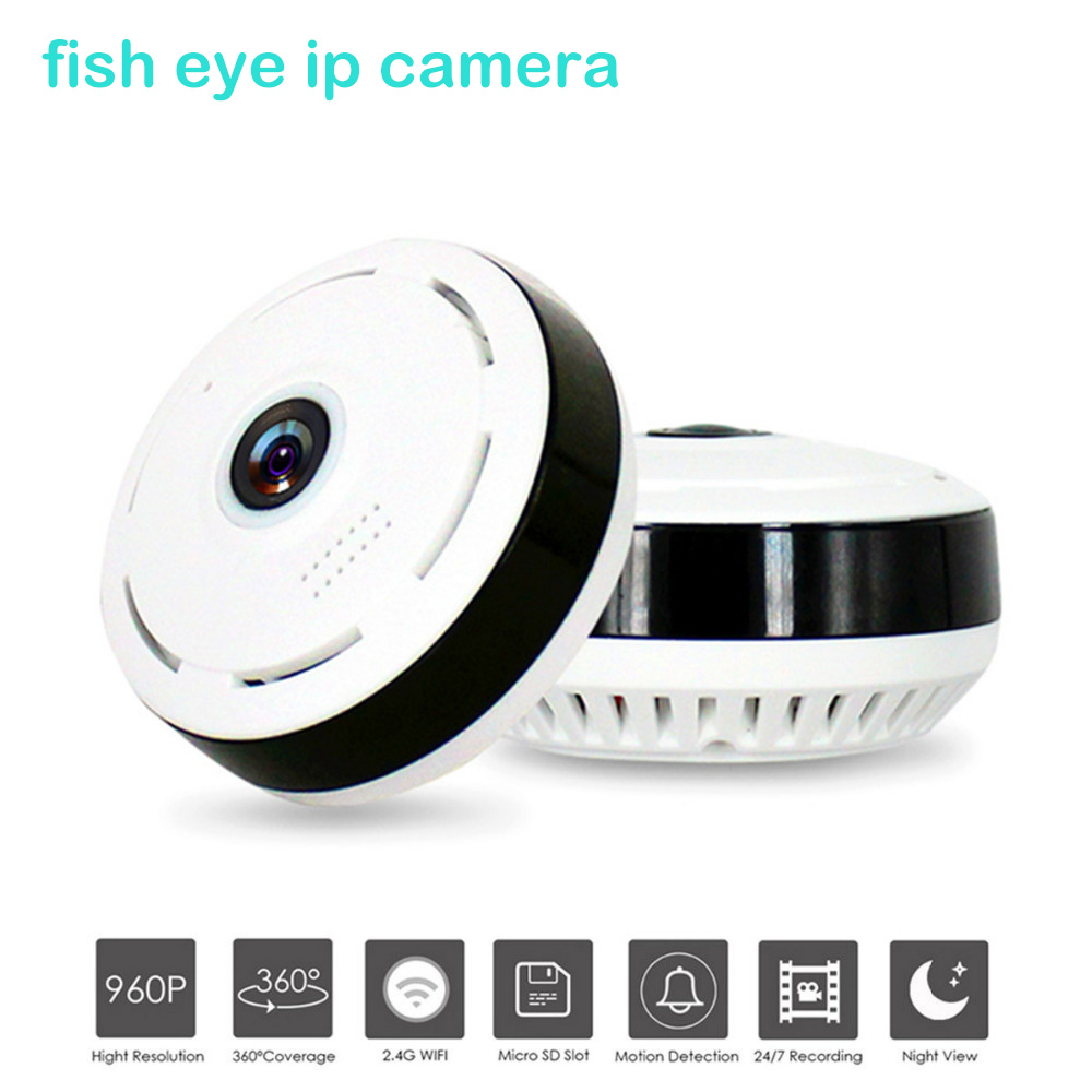 HD 960P Wifi IP Camera Home Security Wireless 360 Degree Panoramic CCTV Camera Night Vision Fish Eyes Lens VR Cam Android ios insta360 air 3k hd 360 camera dual lens panoramic camera compact mini vr camera for samsung oppo huawei lg andriod smartphone