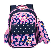 Fashion Girls School Bags for 2019 Sweet Cute Cartoon Princess Children Backpack Kids Lace Bookbag Primary
