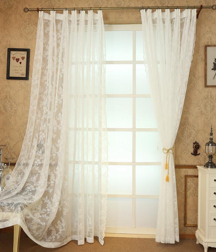 De encaje de ganchillo cortinas Pastoral flor patrón ganchillo ...