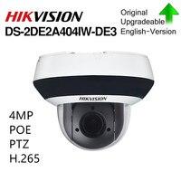 Hikvision оригинальная PTZ ip камера DS 2DE2A404IW DE3 обновляемая 2,8 12 мм 4x зум с POE H.265 CCTV видеонаблюдение