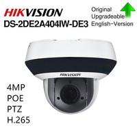 Hikvision Original PTZ IP Camera DS 2DE2A404IW DE3 Updateable 2.8 12mm 4x Zoom with POE H.265 CCTV Video Surveillance