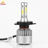 2PCs COB LED Car Headlight Headlamp Bulbs H4 10000LM DC 12V 100W White 6500k Lights Replaces