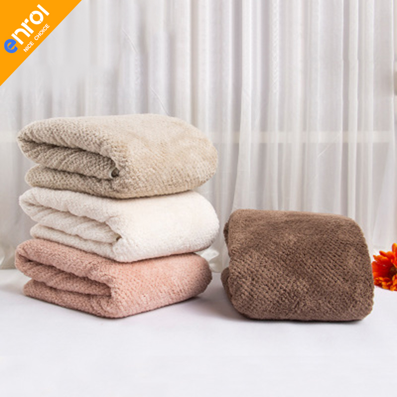 Absorbent Bath Towel Beach Large Size Plain Colour