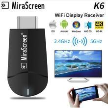 MiraScreen 4 K HD беспроводной WiFi Дисплей HDMI приемник для ТВ-тюнера 1080 P HD tv Stick Miracast зеркальное отображение AirPlay к HDTV проектору
