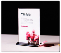A5 Acrylic Table Card Display Sign Holder Menu Price Tag Display Stand For Store Hotel Supermarket