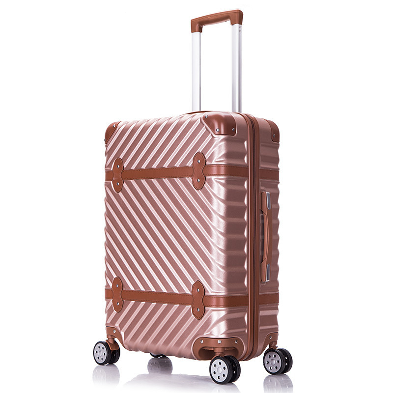 91bf8503a New Fashion!24inch vintage abs pc wave strap hardside case trolley luggage  for men and women,lovely life travel luggage on wheel - aliexpress.com -  imall. ...