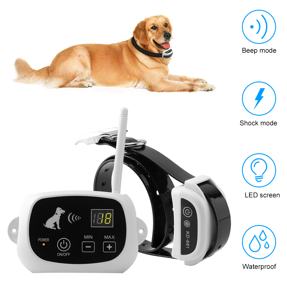 Wireless Remote Dog Fence System Pet Electronic Fencing Device Waterproof Dog Training Collar Electric Shock 0