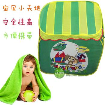 Free shipping Child's play tent toy tent Export genuine  print cartoon child tent roof game house green paragraph  High quality