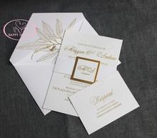 Buy letterpress paper and get free shipping on aliexpress hi1134 top grade customized elegant white invitation card stopboris Choice Image