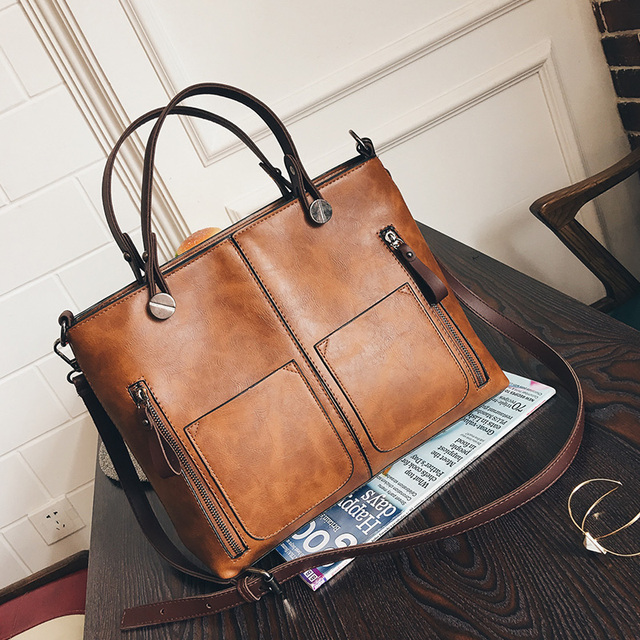 Freya Safi Wax Oil Leather Bag Shoulder Las Hand Bags Women Pu Handbag 2017