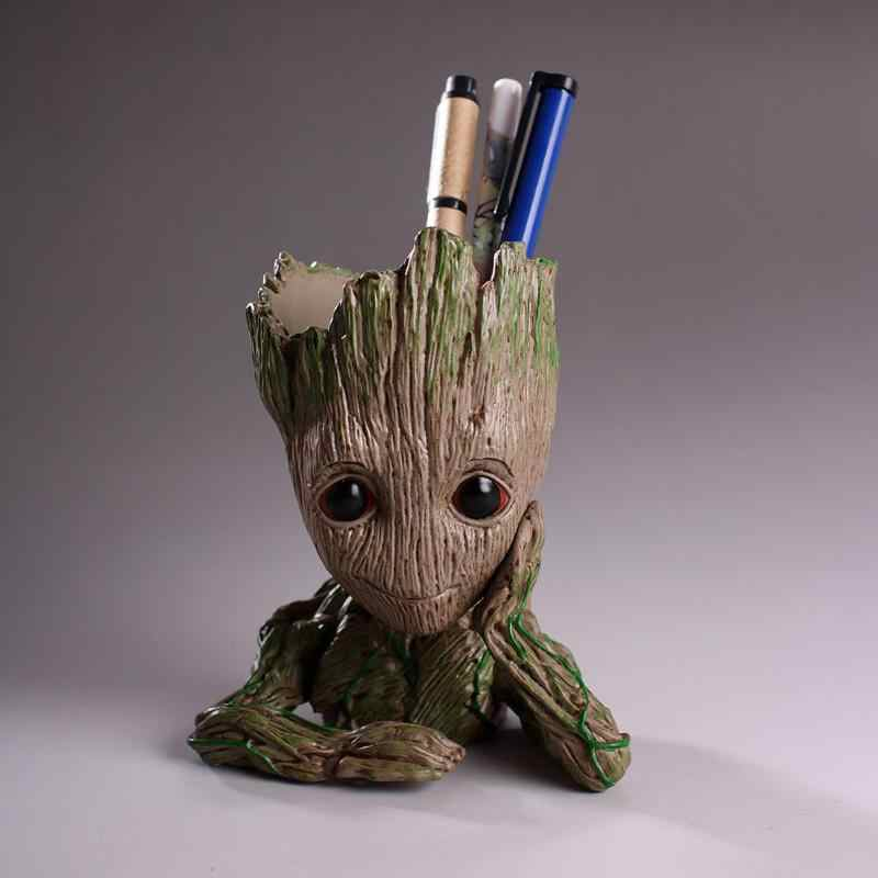 Baby Groot Flowerpot Flower Pot Planter Action Figures Tree Man Cute Model Toy Pen Pot Garden Flower Planter Pot Gifts