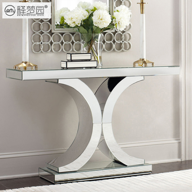 Interpretation Of Dreams Park Console Table Mirror Gl Entrance Station Cabinet Modern Simple European Neo