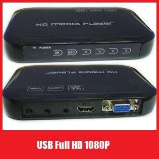 USB Full HD 1080P External HDD Media Player HDMI VGA MKV H.264 SD - Sample  Free Shipping+Drop Shipping